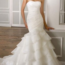 Mermaid Organza Wedding Dress