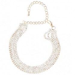 Multi-strand Diamanté Bracelet